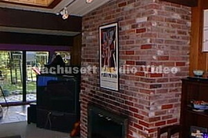 TV on Brick Fireplace-1