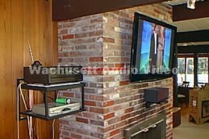 TV on Brick Fireplace-2
